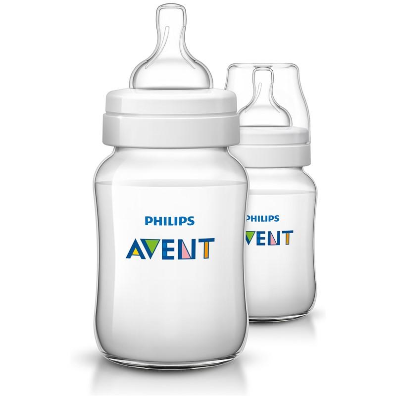 Philips avent classic+ sutteflaske - 260 ml - 2stk, 9 stk. på lager fra Maki fra pixizoo