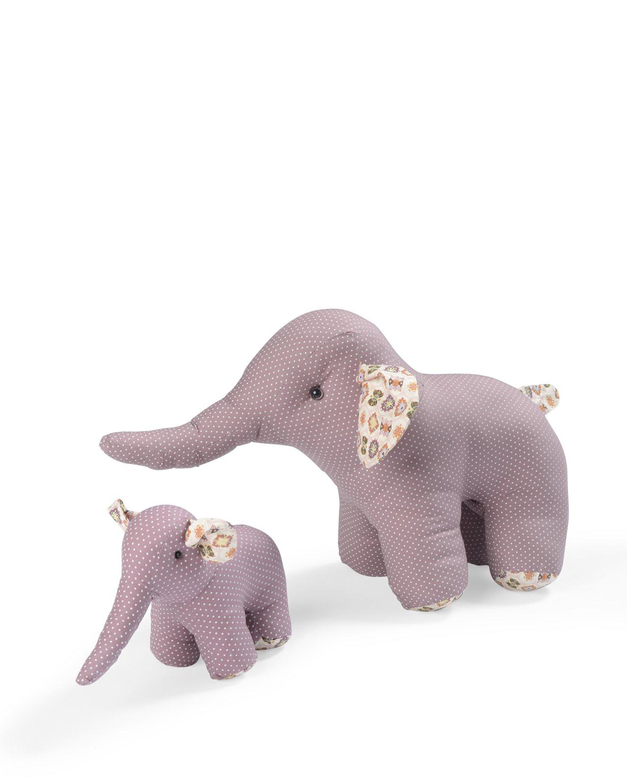 Smallstuff Mjukisdjur Elefant Stor - Rosa