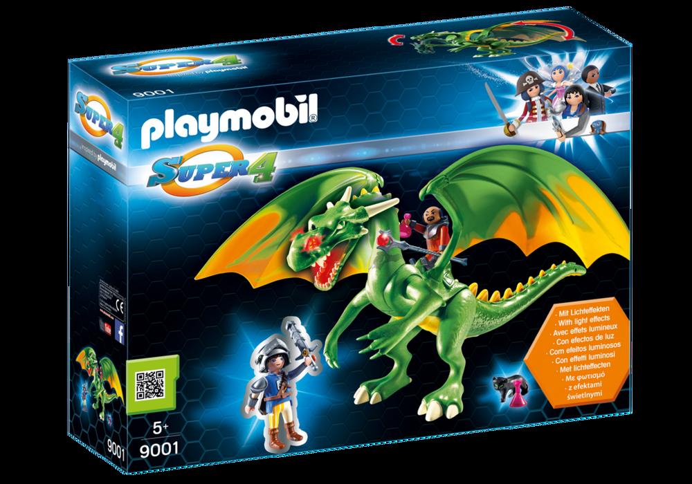 Playmobil Super 4 (9001) Riddarlanddrake med Alex