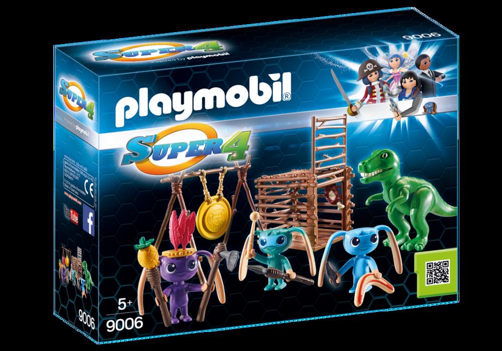 Playmobil Super 4 (9006) Alienkrigare med T-Rexfälla