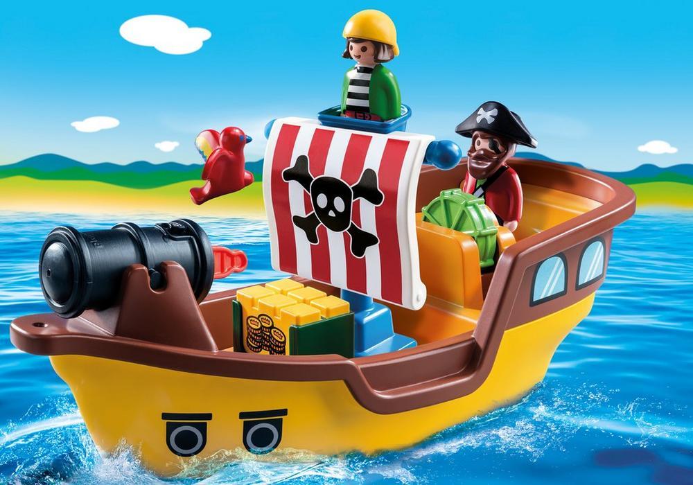 Piratskib (9118) - playmobil 1.2.3, 2 stk. på lager fra Playmobil på pixizoo
