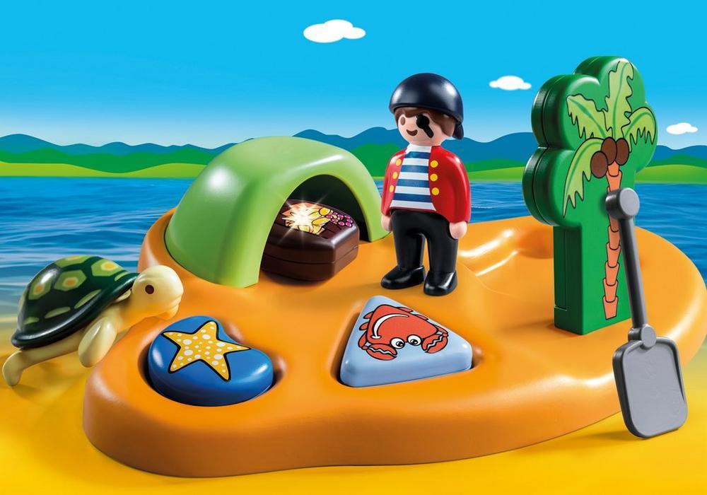 Pirat ø (9119) - playmobil 1.2.3, 5 stk. på lager fra Playmobil på pixizoo