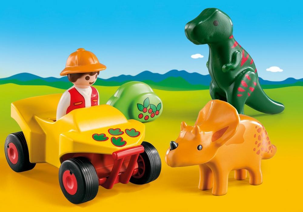 Playmobil 1.2.3 (9120) Upptäckare med Dinosaurier