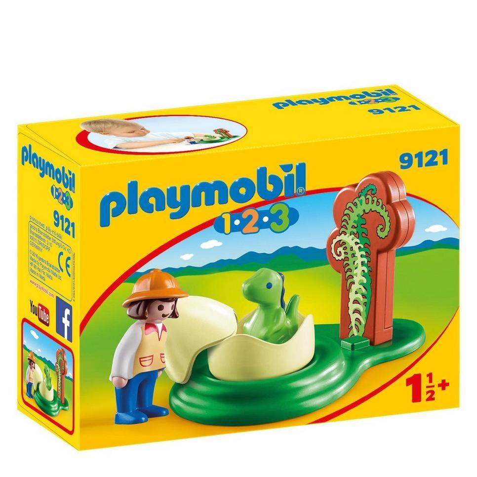 Playmobil 1.2.3 (9121) Flicka med Dinosaurieägg