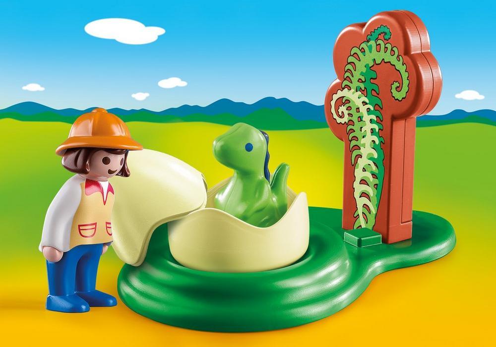 Playmobil – Pige med dinoæg (9121) - playmobil 1.2.3, 7 stk. på lager på pixizoo