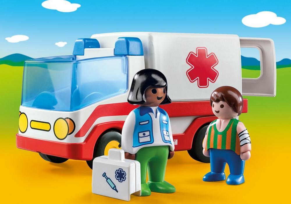 Ambulance (9122) - playmobil 1.2.3, 4 stk. på lager fra Playmobil fra pixizoo