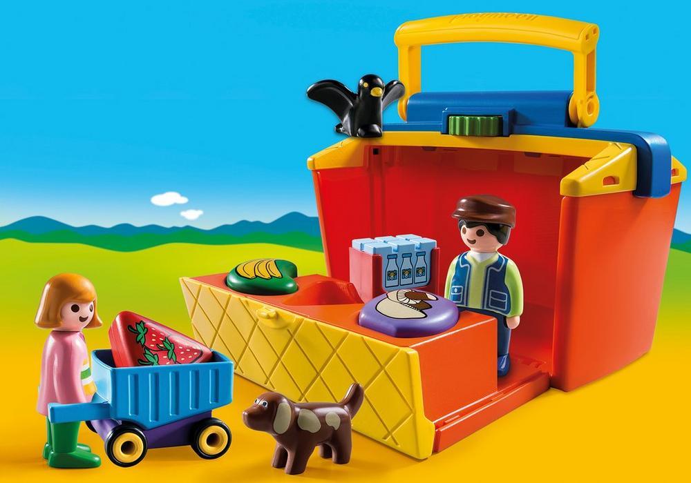 Markedsbod (9123) - playmobil 1.2.3, 3 stk. på lager fra Playmobil på pixizoo