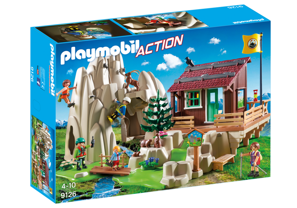 Playmobil – Bjergbestigere med bjerghytte (9126) - playmobil, 2 stk. på lager på pixizoo