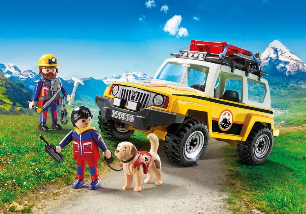 Playmobil Redningstruck (9128) - playmobil, 4 stk. på lager på pixizoo