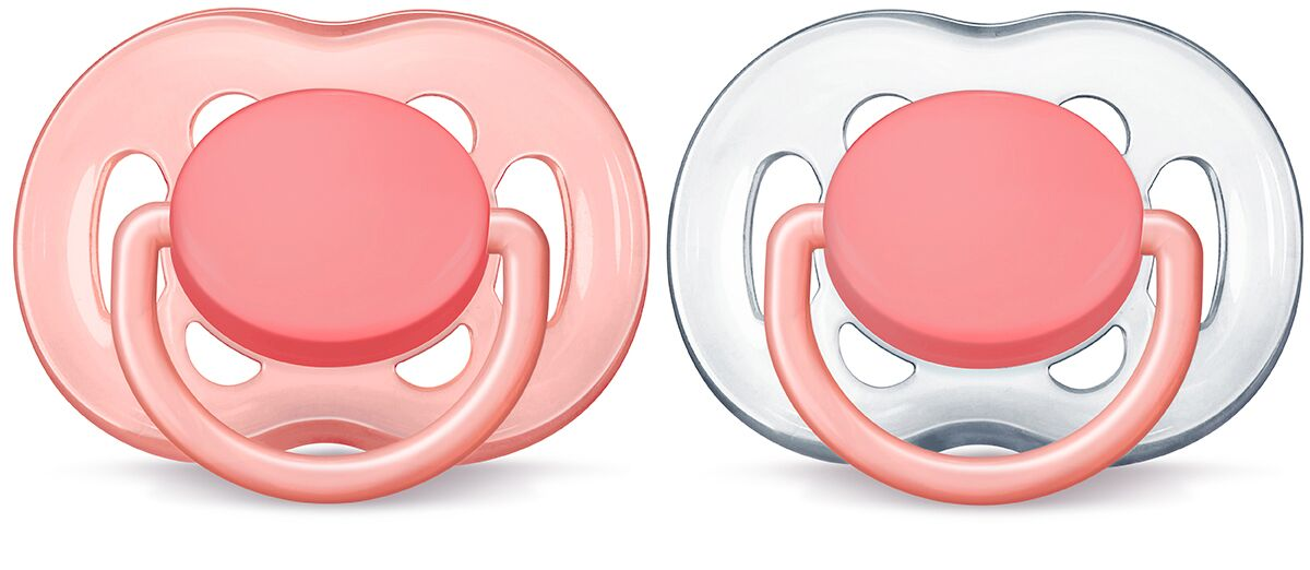Philips Avent Freeflow Napp 2-pack - Rosa Tansparent