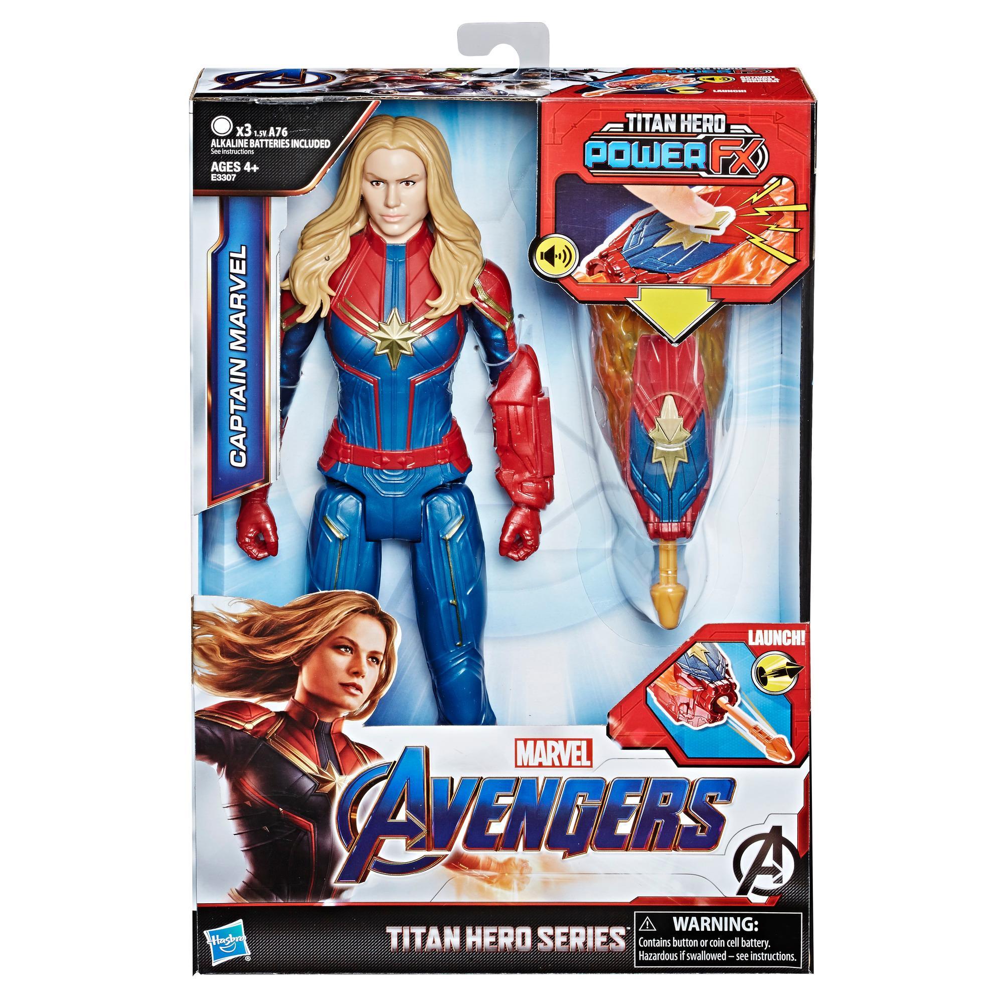 Hasbro - Avengers Titan Hero Captain Marvel + Power Fx Pack - Marvel Endgame