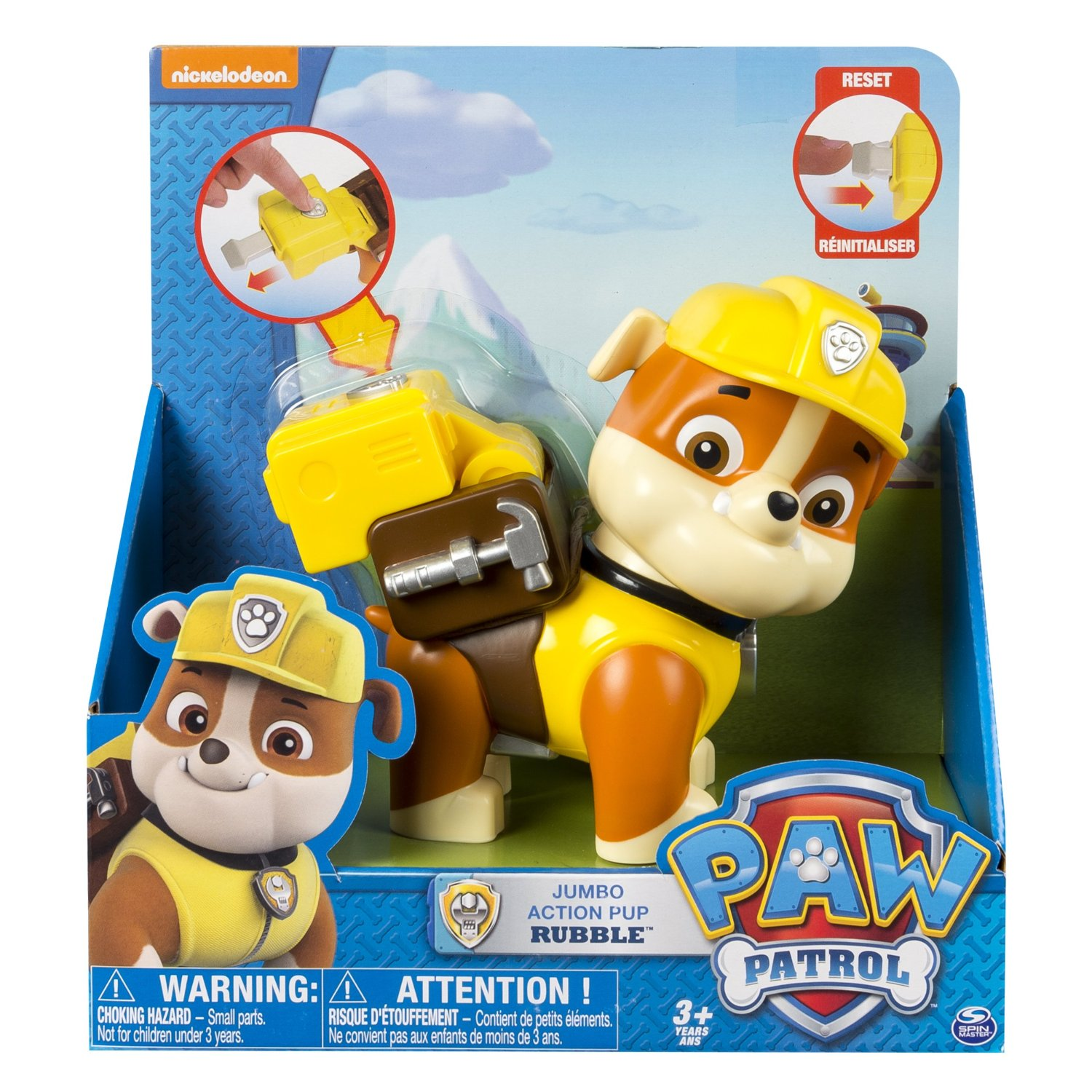 Paw patrol Jumbo action rubble - paw patrol, 10 stk. på lager fra pixizoo