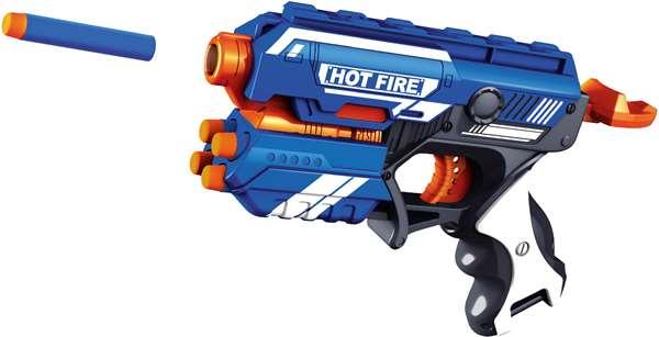 Air blaster – Air blaster soft bullet pistol m 10 skumpile - hot fire, +10 stk. på lager fra pixizoo