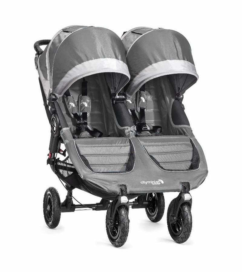 Baby jogger Baby jogger city mini gt double - steel grey, +10 stk. på lager på pixizoo