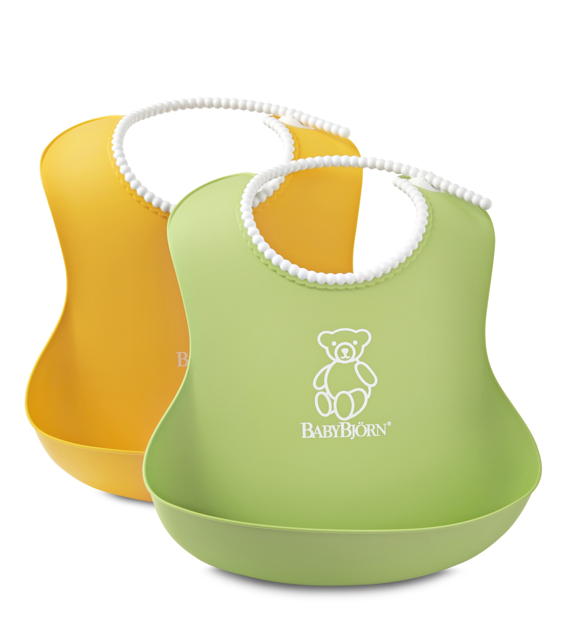 Babybjörn 2-pak hagesmæk blød - grøn/gul, 3 stk. på lager fra Babybjã–rn fra pixizoo