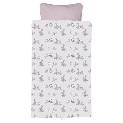 Baby dan - junior sengesæt bunnyhop baby pink 100x140/40x45 , 2 stk. på lager fra Baby dan fra pixizoo
