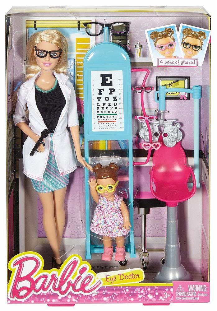 Barbie – Barbie øjenlæge sæt, 2 stk. på lager på pixizoo