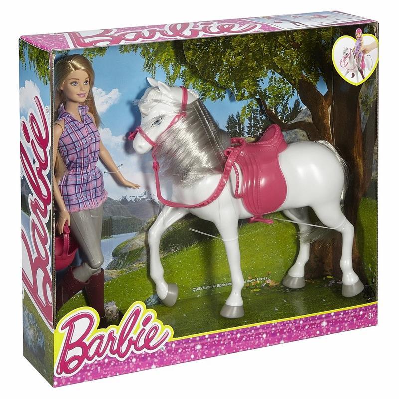 Barbie rytter m. hest, 2 stk. på lager fra Barbie på pixizoo