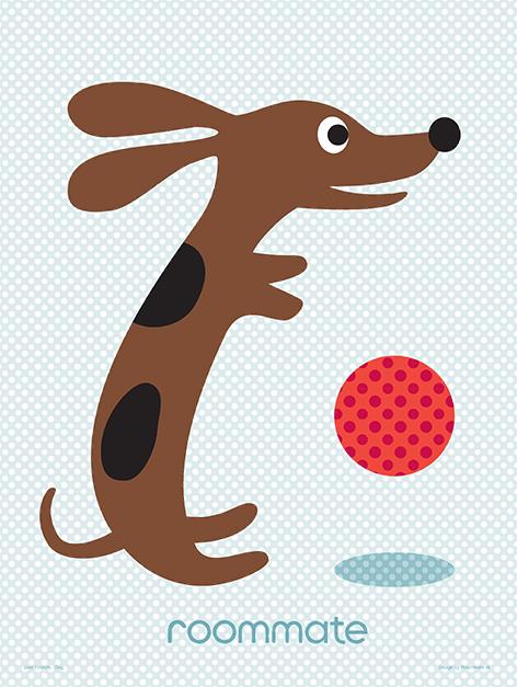 Roommate Best Friends Hund Plakat