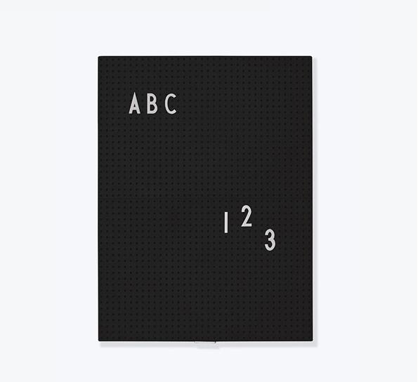 Designletters Designletters message board a4 - sort , 5 stk. på lager på pixizoo