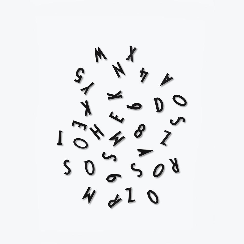 Designletters letter box small - sort , 10 stk. på lager fra Designletters på pixizoo