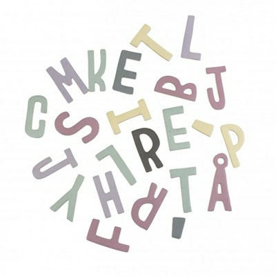 Sebra Magnetbokstäver - Mixad Rosa