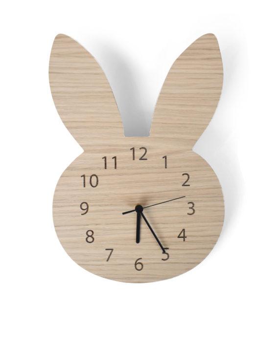 Maseliving Bunny ur (egetræ) - maseliving, 3 stk. på lager på pixizoo