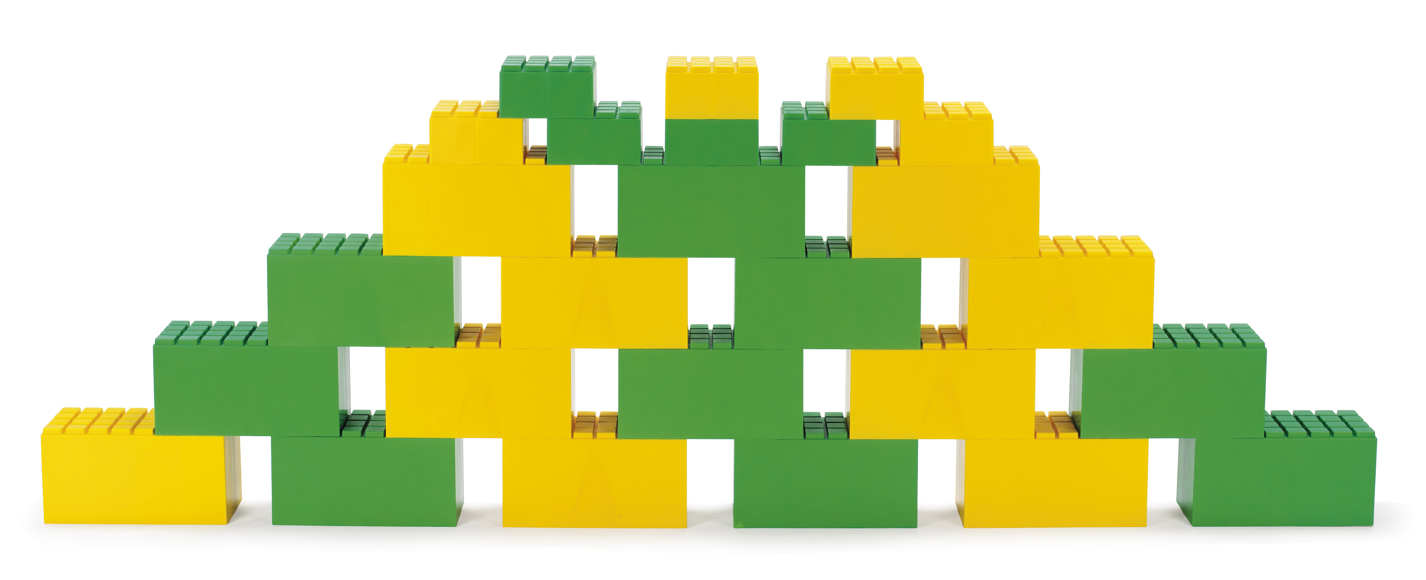 Dantoy – Dantoy byggeklodser 26 stk - grøn/gul, 1 stk. på lager på pixizoo