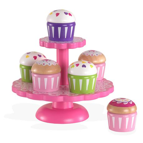 Kidkraft cupcake opsats med cupcakes, 4 stk. på lager fra Kidkraft fra pixizoo
