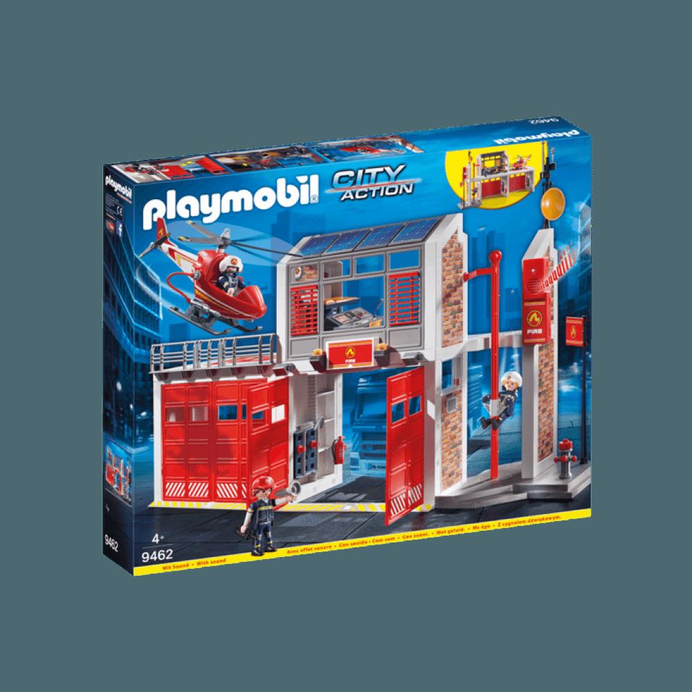 Kendte Playmobil Fire Station - 9462 - 100% Prisgaranti XM-93