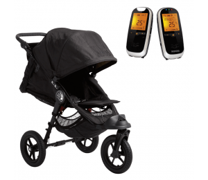 Baby Jogger City Elite og Neonate 6500 - sort