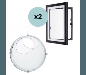 Koziol Orion - klar og 2 x  My Little Davinci A4 Ramme - sort