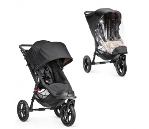 Baby Jogger City Elite Single Sort + Regnslag