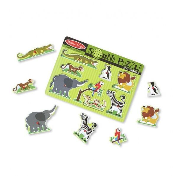Melissa & Doug zoo dyr lydpuslespil - 8 brikker