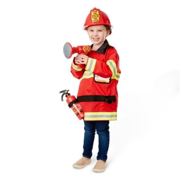 Melissa & Doug Udklædning Brandmand - Rød