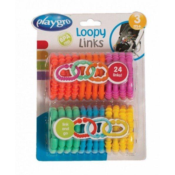24 stk. Loopy Links ringe - Playgro