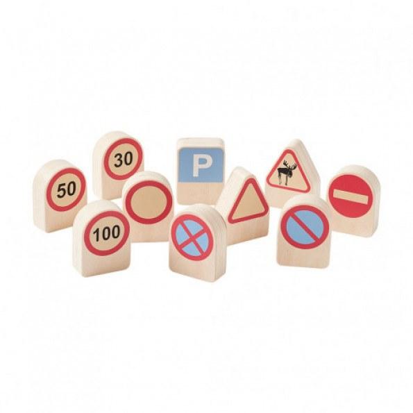 Kids Concept trafikskilte (10 skilte) - træ