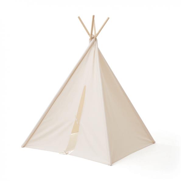 Kids Concept Tipi Telt - Hvid - 110x110 cm