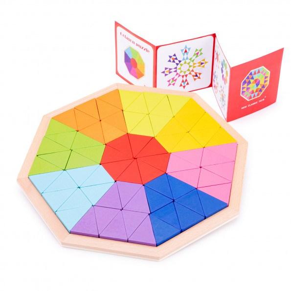 New Classic Toys Ottekant +36 mdr - regnbuens farver