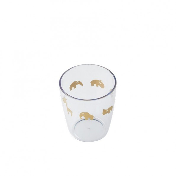 DONE BY DEER Yummy mini glas, guld