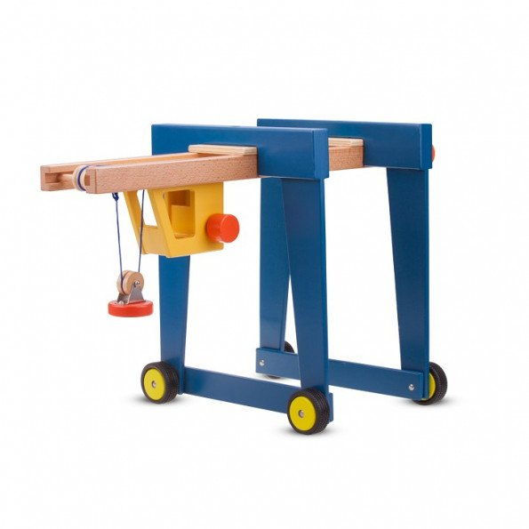 New Classic Toys legetøj - containerkran med hjul