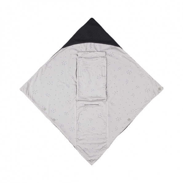 Voksi Baby Wrap - Dark Grey Star