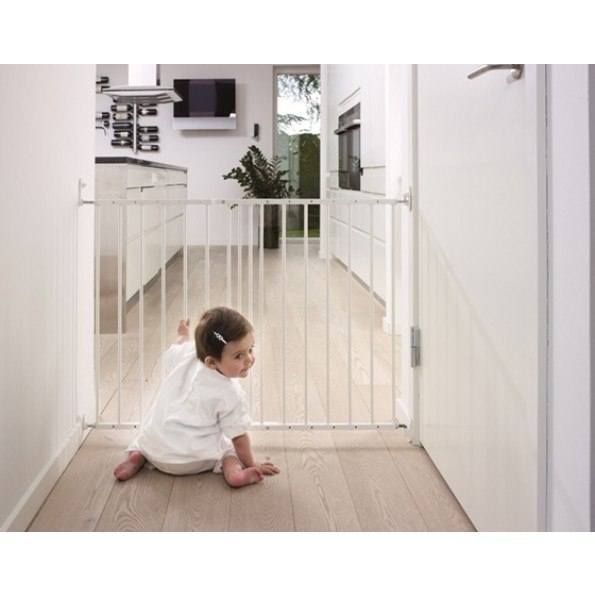 Baby Dan MultiDan sikkerhedsgitter i metal - hvid Sikkerhedsgitter