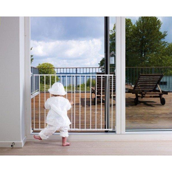 Baby Dan MultiDan sikkerhedsgitter i metal - hvid