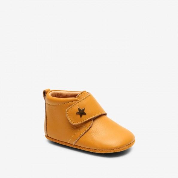Bisgaard Baby Star hjemmesko - Mustard