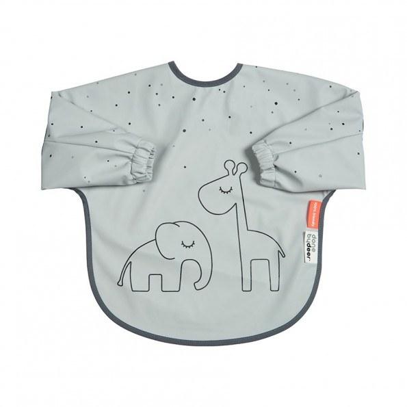 Done By Deer spiseforklæde 6-18 mdr. - Dreamy dots grå
