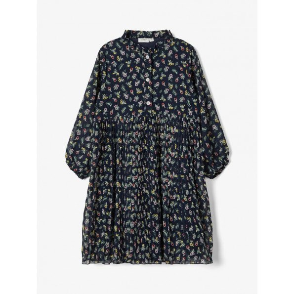 Name It kjole plisseret - dark sapphire