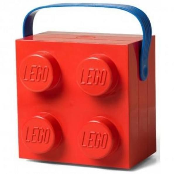 LEGO Madkasse med hank - Rød