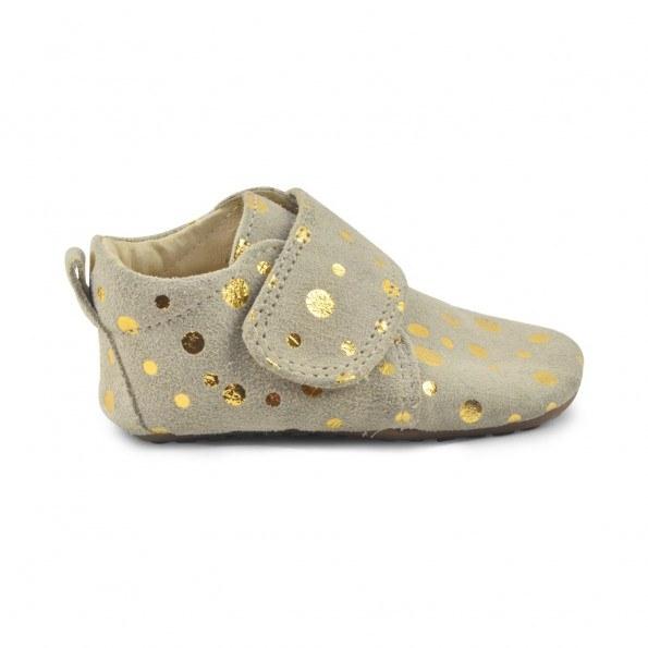 Pom Pom Fashion Hjemmesko - Beige med guld prikker