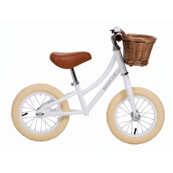 Banwood Løbecykel, First go - White